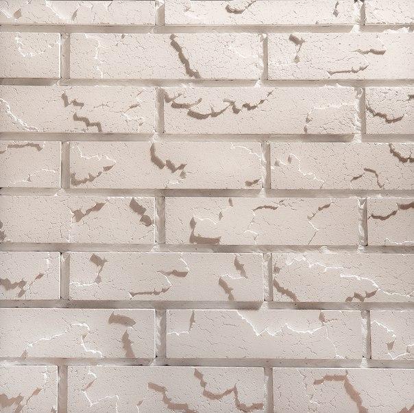 Cracked brick белый